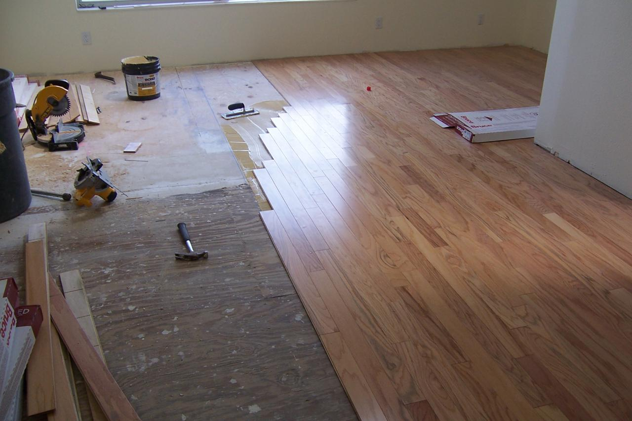 Zonasflooring bruce glue down wood floor installation Wood floor installer